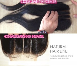 H 4x4 Three Part Lace Front Top Closure Straight Brazilian Virgin Hair With Baby Hair Free Shipping By Dhl