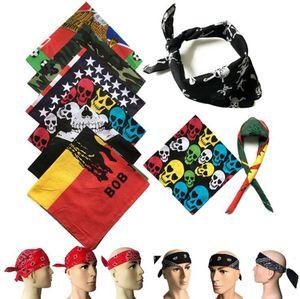 Cráneo Fular 55 * 55cm unisex de Hip Hop del cráneo de Headwear Deporte Pañuelo de cuello de pelo impresión multifuncional Bufanda de ciclo OOA7862