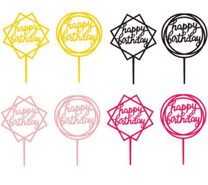Cupcake Topper Kid Party Supplies Wedding Paper Cake Topper Happy Birthday Decor Baby Shower Favor Free Shipping