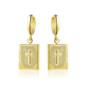 Мода крест фазы Лето Джокер коробка серьги фотографии можно поставить на 4.3 g серебряный и золотой цвет мода крест кулон серьги
