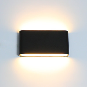 New Outdoor Wall Lamp 6W 12W LED Source Up And Down Lighting Modern Minimalist Indoor Outdoor Engineering Porch Garden Light