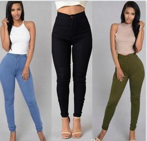 Colori Della Caramella Skinny Womens Jeans Cerniera Lavato A Vita Alta Womens Pantaloni Casual Femminile Matita Pantaloni