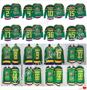 Mighty Ducks Movie CCM Vintage jerseys 99 Adam Banks 96 Charlie Conway 66 Gordon Bombay 9 Paul Kariya 8 Teemu Selanne Hockey Jersey