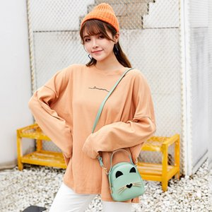das mulheres Backpack Mini Cat Backpack Design Coreanos Estilo Mulheres Mini mulheres