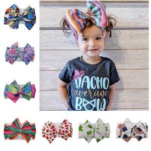 Baby-Haar-Band DIY-Verpackungs-Stirnband-Kinder-Blumen Headwrap Bogen Bowknot Elastic Band Newborn Headress Haarschmuck-Parteigeschenk hotD22604