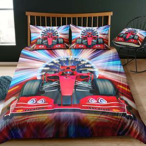 속도계 침구 베개와 단일 유행 하이 엔드 자동차 경주 이불 커버 킹 퀸 트윈 전체 더블 침대 커버 세트