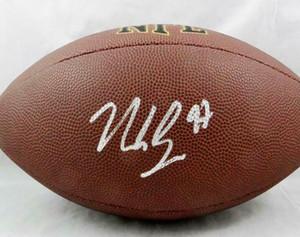 Kapı Futbol topu dışarı Nick Bosa İmzalı Signed signatured ABD Amerika rugby Milli Futbol Lig spor kapalı /
