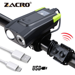 4000 Mah Induktion Fahrrad Frontleuchte USB Wiederaufladbare Smart Scheinwerfer Mit Horn 800 Lumen LED Fahrrad Lampe Zyklus