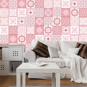 Pink baroque brick stickers home living room bedroom kitchen decorative wall