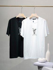 2020 New luxurys designer swan letter print lovers Tee Shirt Men Women fashion casual Streetwear Sweatshirt Outdoor T-shirts 6.19