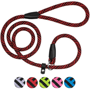 Cuerda antideslizante de cuerda duradera Choke Dog Lead - Mango extremadamente cómodo sin correa Correa de entrenamiento para mascotas para perros medianos y grandes-1.4mx8mm