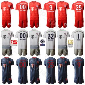 2020 Homens Bayern de Munique Soccer Jersey Set 9 Robert Lewandowski 32 Joshua Kimmich 25 Thomas Muller 7 Leon Dajaku Futebol shirt Kits Uniforme