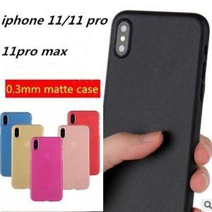 0.3mm Ultra Fino Fosco Fosco Capa de Telefone Fosco Cobertura Completa Transparente Flexível Capa PP para iPhone 11 pro MAX X XS XR 8 7 6 6 s Plus DHL