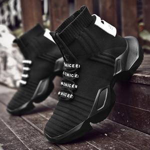 VSIOVRY otoño del resorte de los calcetines zapatillas de deporte de los hombres zapatos gruesos papá Zapatos Hombres punto transpirable zapatillas Caminar no deslizante krasovki