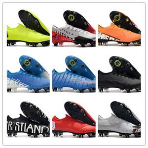 Zapatos para hombre caliente 2019 13 Los vapores XIII Elite SG-PRO AC CR7 Ronaldo Neymar NJR Mujer de Boys fútbol Botas de fútbol grapas del US6.5-11