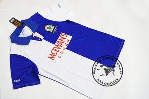 Free shipping 1994 1995 blackburn PL champions home shirts shearer duff batty vintage soccer jersey