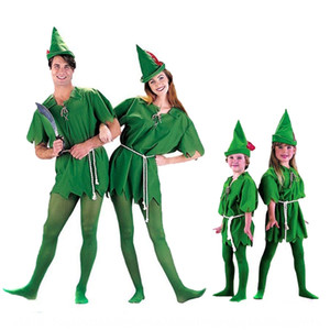 COS Halloween green elves Robin Peter Pan clothing adult children little flying man Peter Pan little green costume