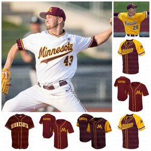 Mens Max Meyer Minnesota Golden Gophers baseball Jersey Joshua Culliver Nick Lackney Jord Kozicky Jersey su ordinazione