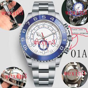 Guarda 44 millimetri 15 colori di lusso grande manopola impermeabile Yacht Uomini orologio automatico cinturino in acciaio inox lunetta in ceramica Super luminoso Funzione