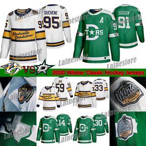 2020 Winter Classic Nashville Predators Dallas Stars Jersey 95 Matt Duchene 9 Filip Forsberg 14 Jamie Benn 91 Tyler Seguin jerseys del hockey