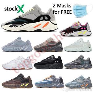 700 Светоотражающих Wave Runner Инерции тефра Solid Gray Подсобной Black Vanta подножка обуви Мужчины Мужчины Обувь Женщина Статических Кроссовки 36-46