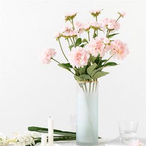 Artificielle Mini capitules Camélia Magnolia Floral Bouquet de fleurs bouquet de mariage blanc laiteux Fausse Floral fille cadeau Home Décor