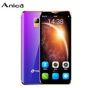 OEM الفاخرة الهواتف المحمولة مصغرة 4G LTE الهاتف الذكي android8.1 الجيل الثالث 3G + 64GB المزدوج سيم الهاتف المحمول الهواتف الذكية مع حالة الهاتف لطالبات