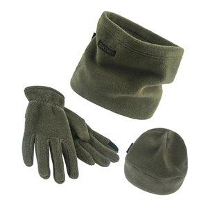 3pcs set Scarf Hat Gloves Set Three-Piece Winter Warm Set Fleece Slouchy Beanie Hats Scarves Warm Clothing Kit for Men Women S1