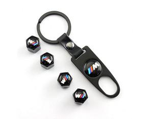 Car Styling roda de carro Airtight Tire-tronco tampa da válvula de ar para BMW M3 M5 M6 E46 E39 E60 E90 Tire Stem Covers Air poeira + Ferramenta Chave KeychainEP00