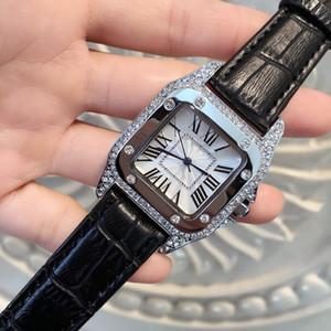 2020 nagelneue Modell Mode Dame spezielle Uhren echtes Leder kausalen Frauen Diamant-Armbanduhren Luxus weibliche Uhr Drop Verschiffen der Uhr