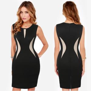 Para mujer refrescan las señoras hermosas partido formal vestido del lápiz de vestir de negocios