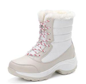 Designer new snow boots female high to help waterproof ladies cotton women boots plus velvet warm women's sneakers shoes 34-42