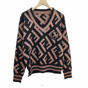Пятно реальный выстрел V-образный вырез высококачественные буквы осенние и зимние взрывы вязаный свитер женская мода женская одежда