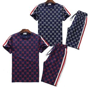 Marca de lujo del verano sudadera jogging Diseñador juego de los hombres Operando manga corta para hombre camisetas chándales pantalones forman basculador de sudor, prendas de deporte