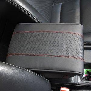 Couro Car braço Cushion Pad Universal Preto Center Console Auto assento Aumentar Apoia braços Box Proteção Tampa mão