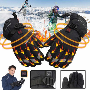 5 Gears hiver USB chauffe-main gants thermiques électriques Gants chauffants étanches à piles pour moto ski