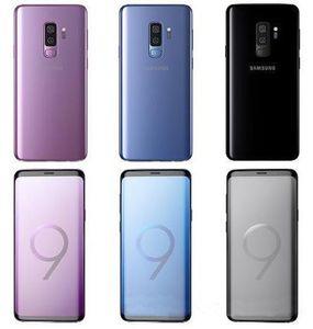 تم تجديد الهواتف المحمولة الأصلية مقفلة Samsung Galaxy S9 زائد 6.2 بوصة 6 جيجابايت RAM 64GB Android 8.0 بصمة IP68 للماء LTE الهاتف المحمول