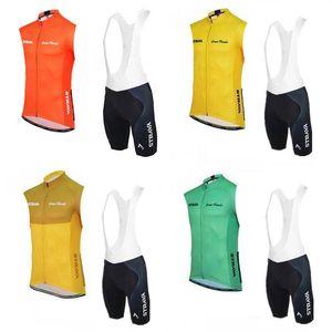 Strava Summer Cycling Sleeveless Jerseys Ropa Ciclismo Breathable Bike Clothing Quick-Dry Sportwear Ropa Ciclismo GEL Pad Bib shorts F52506