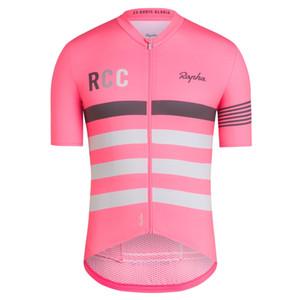 RCC rapha Cycling Jersey uomo Vestiti di riciclaggio Racing Sport bici Jersey usura di riciclaggio superiore maniche corte Maillot ropa Ciclismo
