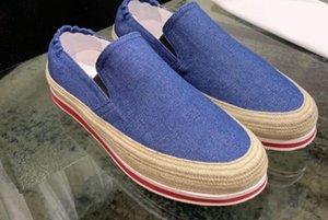 2020 spring autumn mens Blue black canvas leather lining Rubber sole Breathable Espadrille Trainers Sport Comfort slip on Fashion Sneakers