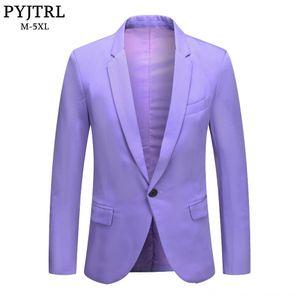 PYJTRL Mens Fashion Plus Size Lavender Purple Apple Green Beige Men's Suits & Blazers Men's Clothing Slim Fit Casual Blazer Coat Male Costum