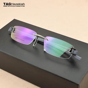 2019 Marke Brille randlos Jahrgang Kurzsichtigkeit Brillen Rahmen TR90 Computer Retro Brille optische Frauen Männer oculos de grau Rahmen