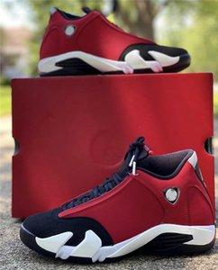2020 Nouveaux renonciataires authentiques Air 14 Blanc Gym Rouge Noir Rétro homme Chaussures de basket-487471-006 Suede Sport Sneakers avec la boîte originale