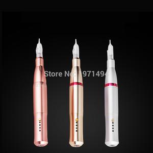 3 цвета электрическая бровь перо машина татуировки перманентный макияж двигатель татуировка пистолет 5pc микро иглы 1RL для бровей / губ / карандаш для глаз / MTS T200609