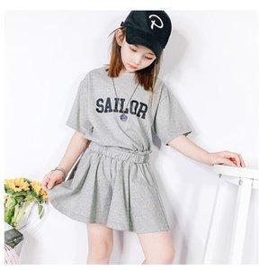 Fashion designer luxury children's suit girl baby boy designer clothing 2 pieces   set of pure cotton summer