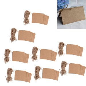 400Pcs Blank Kraft Paper Place Name Card Rustic Wedding Table Card with Twine Bow