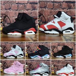 Nike Air Jordan 6 Дети 4 6 баскетбольная обувь оптом Новый 1 space jam J4 J6 6s кроссовки дети спорт бег девочка мальчик кроссовки J6 обувь 28-35