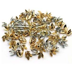 8 мм Оптовая 150 шт. / лот металлические четыре листа чашки из бисера серебряный золотой цвет цветок лепесток распорка бусины шапки подвески для изготовления ювелирных изделий