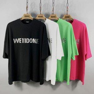 designer INS Japan and South Korea Tide brand WELLDONEN short-sleeved T-shirt WE11DONE stereo old stamping loose drop shoulder short sleeves
