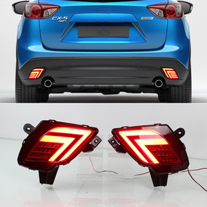 1Pair LED 리플렉터를 들어 마즈다 CX5 CX5 2014 2015 2016 2013 자동차 테일 라이트 후면 범퍼 라이트 후면 안개 램프 브레이크 라이트